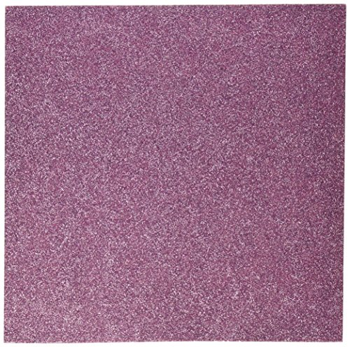 (American Crafts Glitter Cardstock, 12 by 12-Inch, Grape (15 sheets per pack))