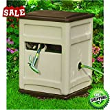 Portable Hose Reel Water Swiveling Base Cart 225 Ft Patio Garden Hoses Holder Storage Planting Easylink System Durable Contemporary Design & eBook by BADA shop