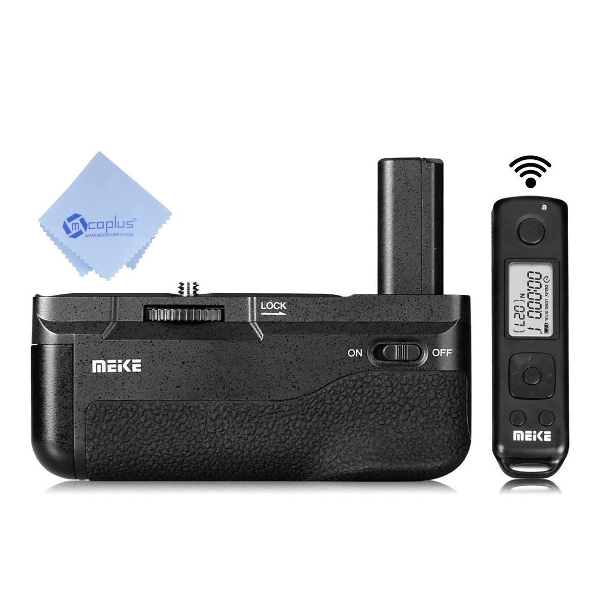Meike MK-A6500 Pro Battery Grip Built-in 2.4GHZ Remote Controller Vertical-Shooting Function Compatible for Sony A6500 Camera +Mcoplus Cloth by Meike
