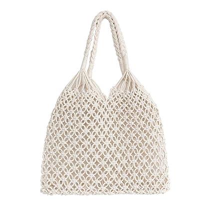 2a199e2756449 Amazon.com  HOSPORT Women Tote Bag Woven Beach Totes Shoulder Handbags  Beach Bags  Home   Kitchen