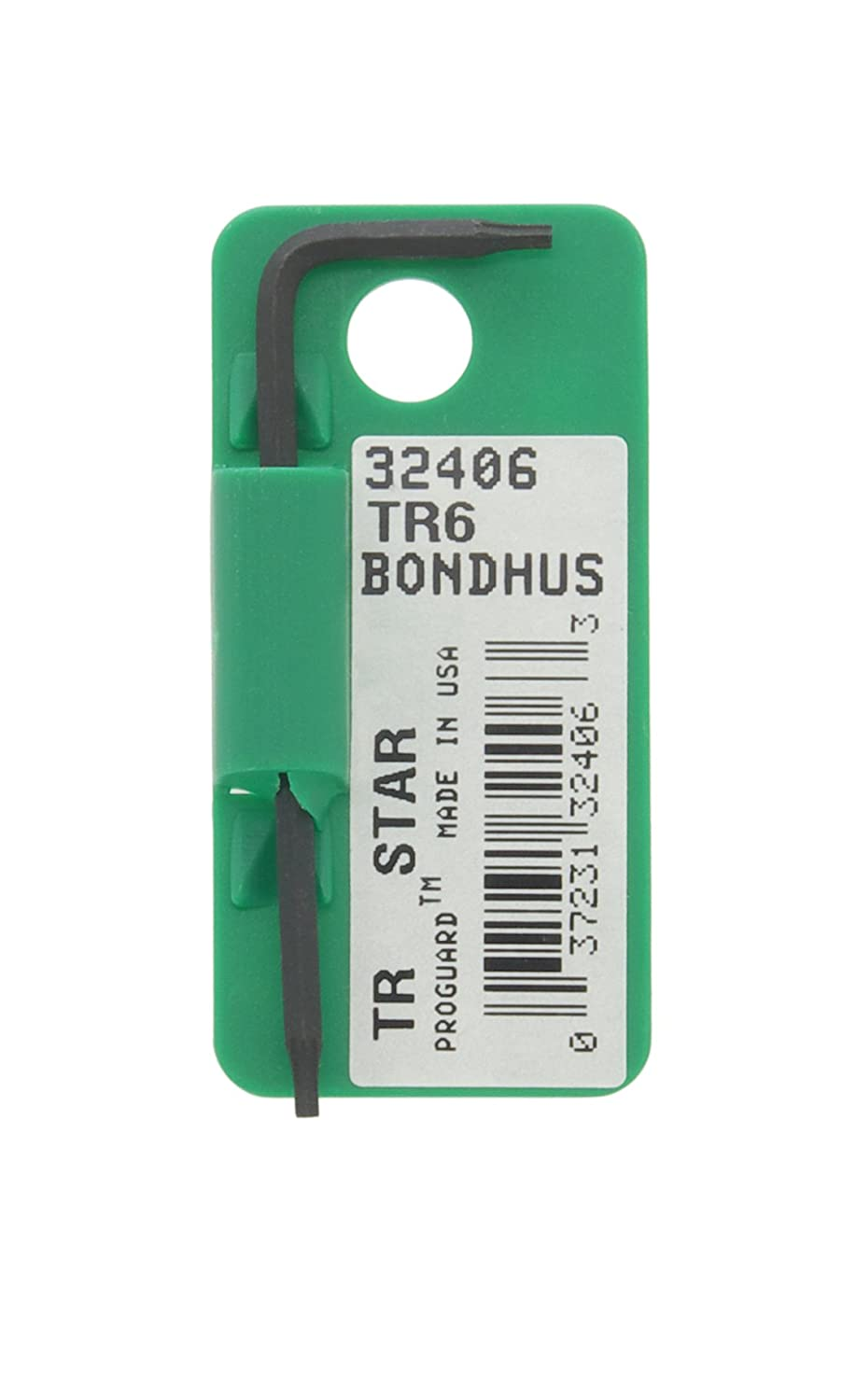 Bondhus 32406 Tagged and Barcoded TR6 Tamper-Resistant Tip Star Key L-Wrench with ProGuard Finish, 2.1' 2.1