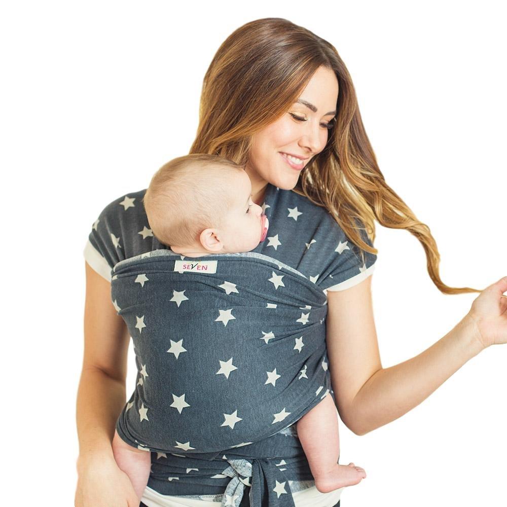 cedb5711fa5 Amazon.com   Seven Baby Wraps Seven Slings Wrap - Snuggles   Baby