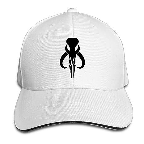 Bounty Hunter Boba Fett Bantha Mandalore Logo Flexfit Baseball Cap White   Amazon.ca  Clothing   Accessories 689286b6400