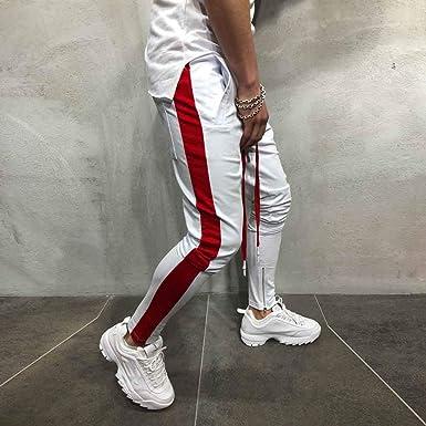 MOVERV Hombre Pantalón Chándal Deporte Pantalón, Jogger Pantalones ...