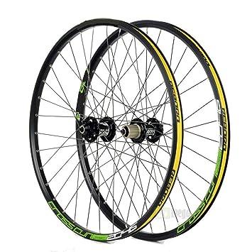 "Gimitunus Ruedas de Carretera MTB de Disco de Bicicleta de 26""Wheelset (Color :"