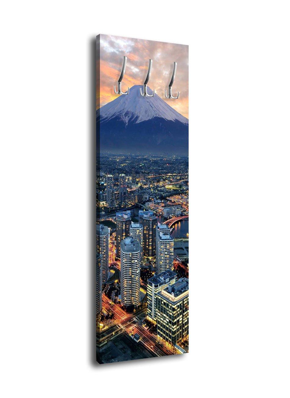 Wandmotiv24 Garderobe mit Design Yokohama Mt. Fuji G392 40x125cm Wandgarderobe Japan Küste Fuji