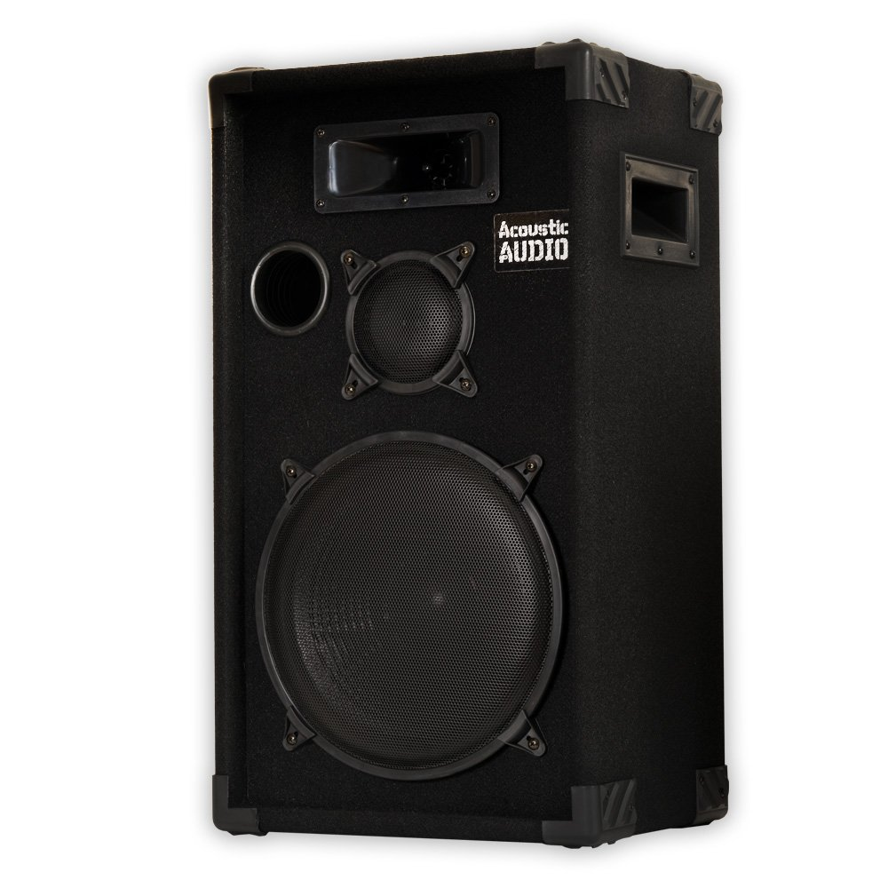 Acoustic Audio CR12 PA Karaoke DJ 12 Speaker 500W 3 Way