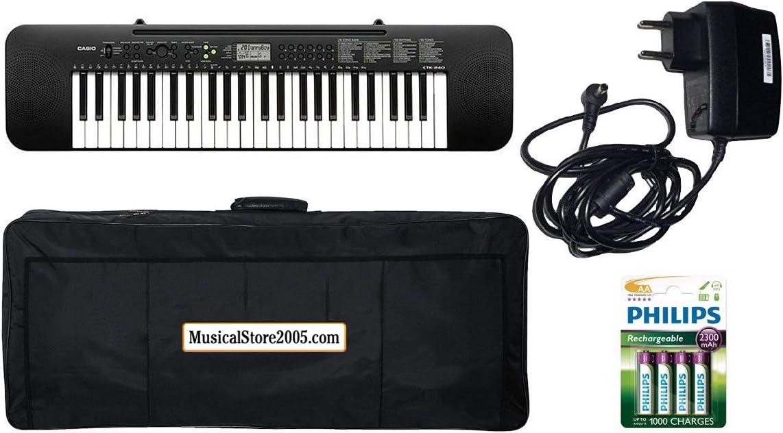 Casio Student Pack ctk240 teclado 49 teclas/accesorios Bundle ...