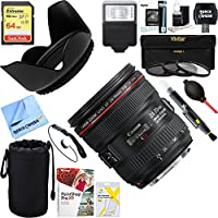 Canon (6313B002) EF 24-70mm F/4L IS USM Standard Zoom Lens + 64GB Ultimate Filter & Flash Photography Bundle
