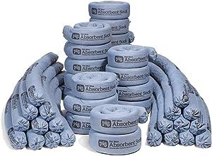 New Pig Blue Absorbent Sock   Form Barrier & Prevent Spills from Spreading   95 oz Absorbency   3