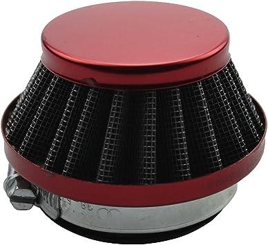 Red 44mm Air Filter For 2 Stroke 47cc 49cc Mini Moto ATV Dirt Pocket Go Kart