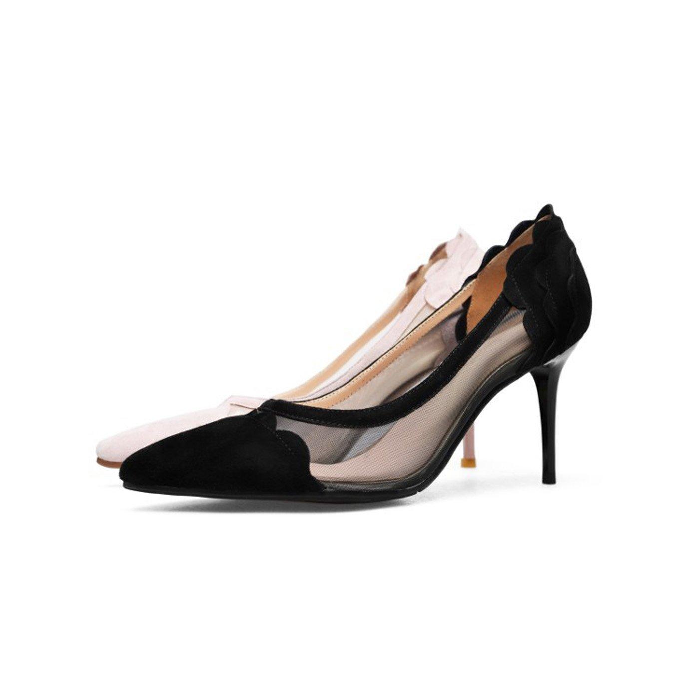 ZXMXY Zapatos de tacón Alto de Las Las Las Mujeres Recortadas Poco Profundas del Dedo del pie Sandalias Atractivas Zapatos de tacón de Aguja del Estilete Sandalias al Aire Libre 9cb280