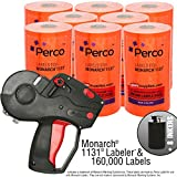 Monarch 1131 Pricing Gun With Labels Value Pack: Includes Monarch 1131 Price Gun, 160,000 Fluorescent Red Pricemarking Labels, 8 Bonus Inkers