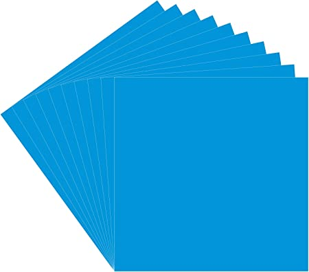 Amazon Com 10 Sheets Oracal 651 Vinyl Azure Blue 12x12 Permanent Adhesive Backed Vinyl Sheets Craft Vinyl Perfect For Indoor Outdoor Lettering Marking Decorating Car Decals Window Graphics Home Decor Arts Crafts Sewing