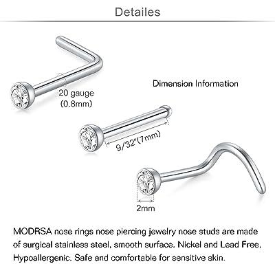 Nose Ring With Pipe Surgical Steel Piercing Jewellery Septum Hoop Septum Ring
