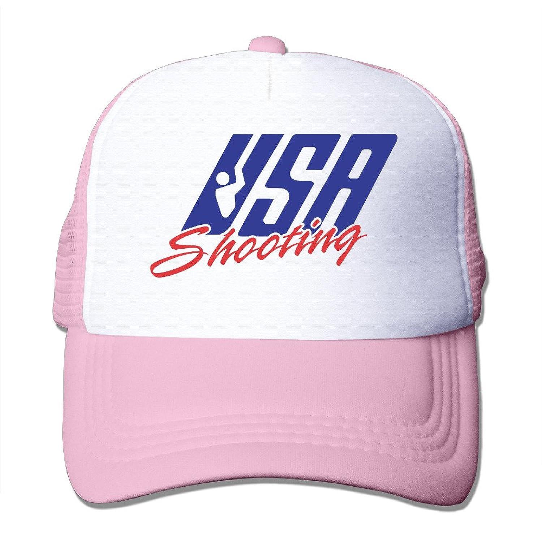 Funny USA Shooting Circle R RGB Adult Nylon Adjustable Mesh Hat Baseball Caps Black One Size Fits Most