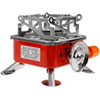 Kriva Outdoor Portable Windproof Square-Shaped Gas Butane Burner for Outdoor Survival Camping Hiking Picnic Kitchen Stove