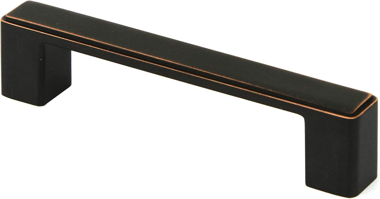 Kingsman NEPOLI Series Pack of 10 Solid Zinc Alloy Drawer Pull Cabinet Handle 4-1//2 in, Oil Rubbed Bronze