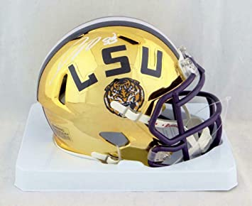 Joe Burrow Autographed//Signed LSU Tigers Yellow Mini Helmet Heisman BAS