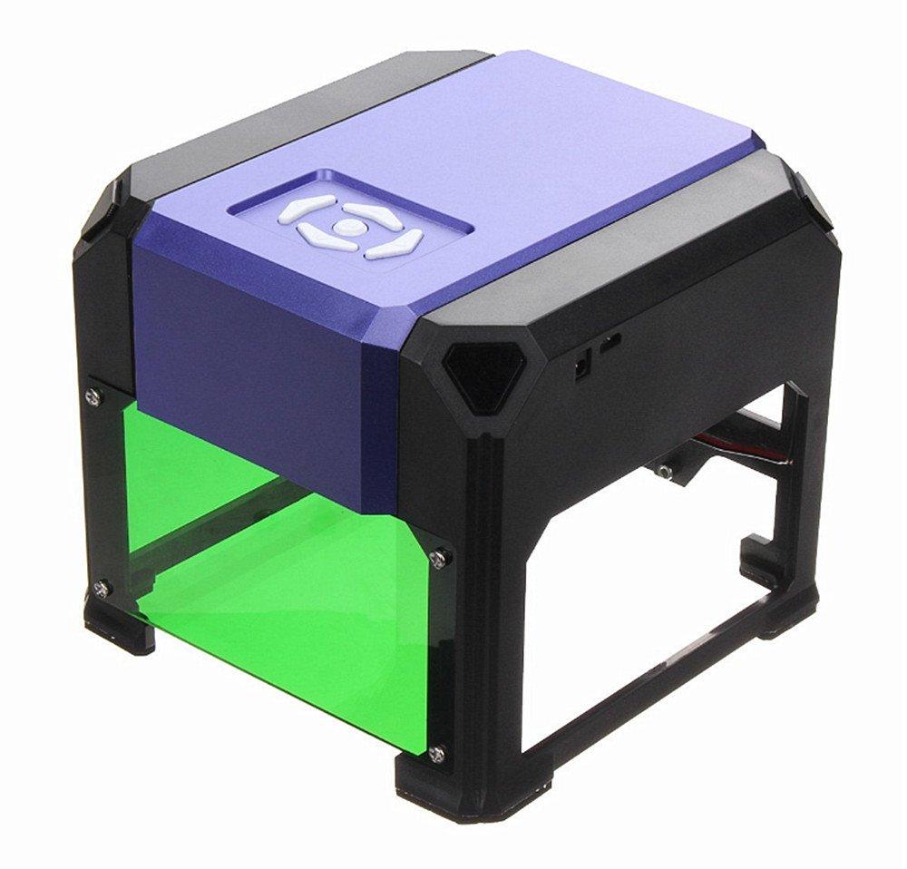 レーザー彫刻機 1000mW 卓上 DIY道具 加工機 プリンタ DIY ロゴマーキング 軽量 USB オフライン操作可 木、プラスチック、竹、ゴム、革、切り紙など対応 保護メガネ付き 彫刻機 8 x 8 cm (パープル) B07CPMD1V4 パープル