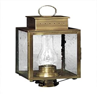 product image for Brass Traditions 460 SAB Large Tall Post Lantern 400 Series, Antique Brass Finish 400 Series Tall Post Lantern