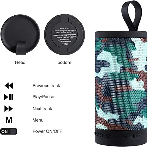 Portable Wireless Bluetooth Speakers, Small and Compact Speaker Hands-Free, HD Audio and Enhanced Bass Outdoor Indoor, Splash Proof Compatible with Bluetooth Enabled Phones and Tablets