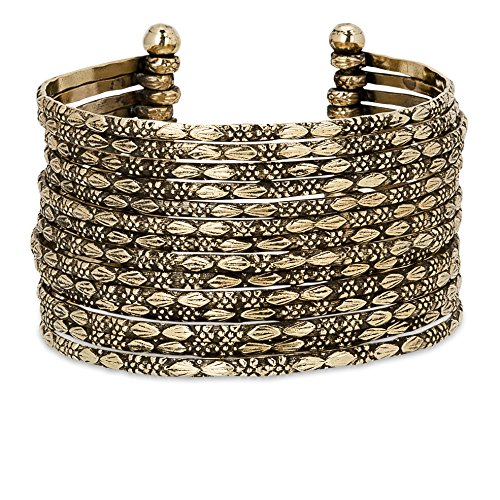 Multi Collection Metal (Metal Cuff Bracelet in Silver, Gold or Multi Tone | SPUNKYsoul Collection (Gold))