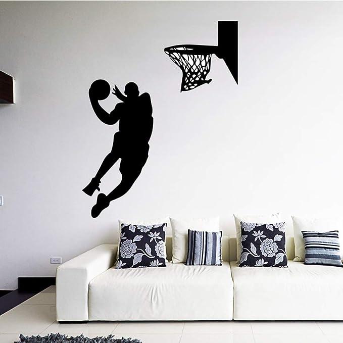 HNXDP Baloncesto Jugador Pegatinas de pared Niños Dormitorio Sala ...