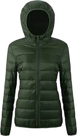 Best Gift for Family SZGS Womens Lightweight Water-Resistant Packable Puffer Coat-Mid-Length Winter Big Fur Collar Female Down Jacket