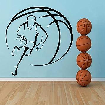 TYLPK Vinilo Baloncesto Adhesivo de pared Accesorios para la ...