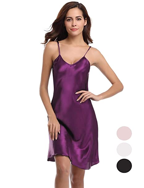 Abollria Camisón Mujer Verano Lencería Pijama de Satén Kimono Camisón para Mujer: Amazon.es: Ropa y accesorios