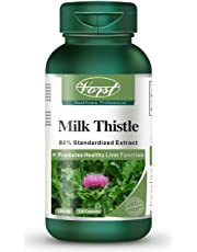 Vorst Milk Thistle 150mg 120 Capsules Silymarin Liver Health Detoxification Supplement Support Gallbladder Natural Cleanse (1 Bottle)
