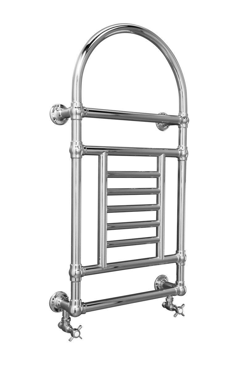 Flen Scaldasalviette Design Bagno Termoarredo Shabby Chic Porta Asciugamani Retro 1000 x 535mm Cromato WarmeHaus