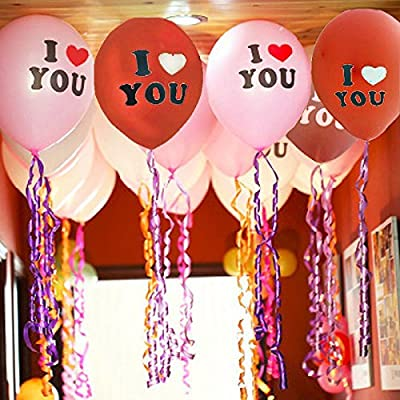 [USA-Sales] Happy Valentines Day Party  I Love You Heart Balloons, Qty. 20 pcs, 12
