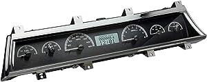 Dakota Digital Dash Analog Gauges 66 67 Chevy Chevelle EL Camino Black Alloy White VHX-66C-CVL-K-W