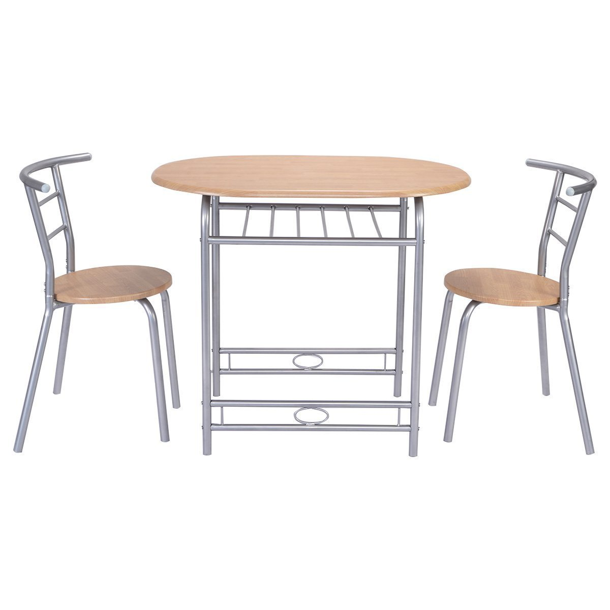 Amazon.com - Giantex 3 PCS Table Chairs Set Kitchen Furniture Pub Home Restaurant Dining Set - Table u0026 Chair Sets  sc 1 st  Amazon.com & Giantex 3 PCS Table Chairs Set Kitchen Furniture Pub Home Restaurant Dining Set