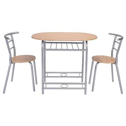 Amazon.com - Giantex 3 PCS Table Chairs Set Kitchen Furniture Pub ...