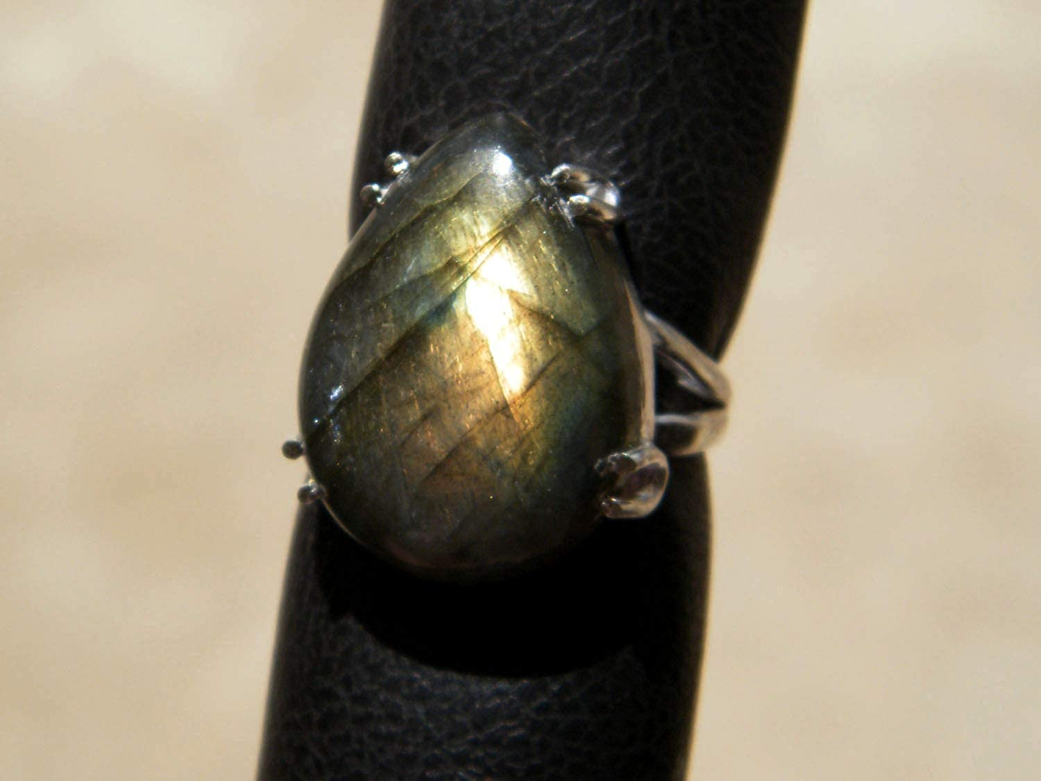 Silver Plated Ring BRS-5100 Handmade Ring Size- 7.5 USA Thebestjewellery Labradorite Ring Women Jewelry Gemstone Ring