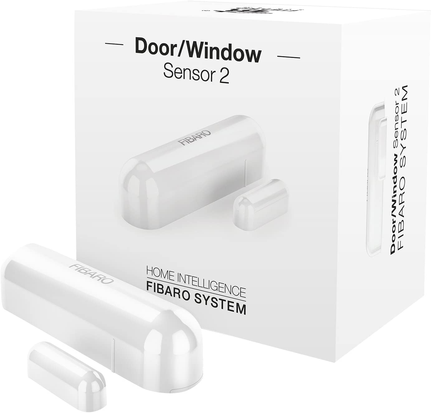 Fibaro FGDW-002-1 FGDW0021 Door/Window v2 with Temperature Sensor, Z-Wave Plus, FGWD-002-1, White