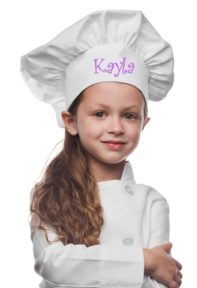My Little Doc Personalized White Kids Chef Hat, Poly/Cotton Twill Fabric