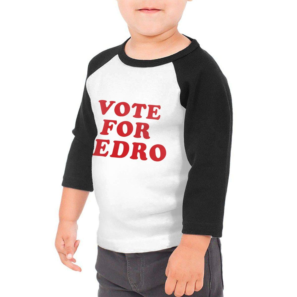 Yimo Vote for Pedro Unisex Toddler Baseball Jersey Contrast 3//4 Sleeves Tee
