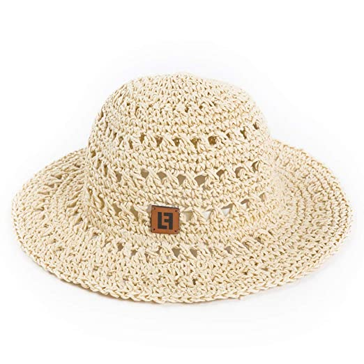 Lungfish Kids Sun Hat Boys Girls Straw Short Brim Bucket Hat for Summer  Beach Beige e79d8a27fa5