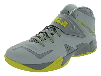 official photos 6f722 6c4dd Amazon.com   Nike Mens Zoom Soldier VII Basketball Shoes Pure Platinum Wolf  Grey Sonic Yellow 599264-001 Size 10.5   Basketball