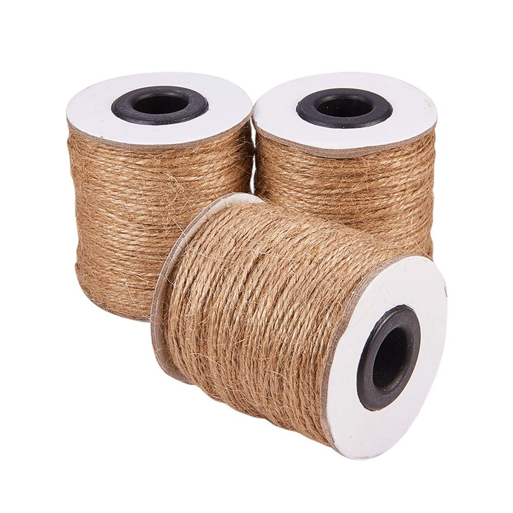 Pandahall (3 Rolls x 320 Feet) Natural Jute Twine 2-Ply Jute String Rope 1mm Hemp Rope Jute Cord DIY Crafts, Gift Wrapping by PH PandaHall