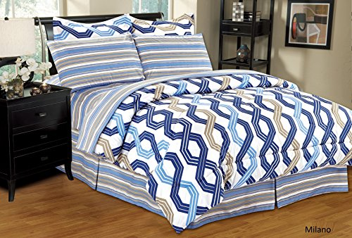 - Home Sweet Home Dreams Inc Ultra Soft 8 PC Reversible Bed in a Bag Comforter Set(Queen, Monaco)