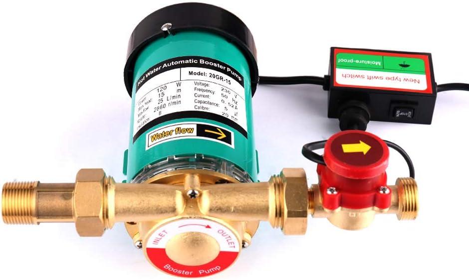 SHYLIYU Bomba de Circulación de Agua Bomba de Agua Caliente Bomba de Presión Casa Automático Utilizado Para el Hogar Acuario Jardín Estanque Fuente etc120W 1500l / H 15m Altura