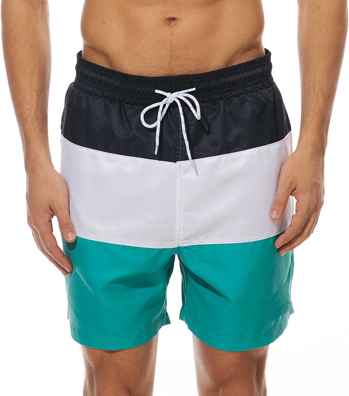 Mens Swim Trunks Fashion Swimming Shorts Beach Surfing Board Shorts Male Mens Bathing Suits