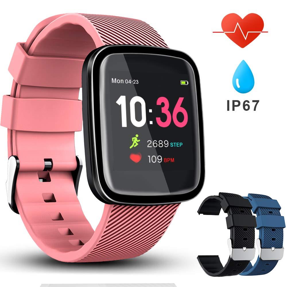 VASCOO SmartWatch, Reloj Inteligente con Impermeable 67, Pulsera Actividad Inteligente con Monitor Rítmo Cardíaco Calorías, 8 Modos Deportes GPS, Reloj Inteligente Deportivo Mujer Hombre product image
