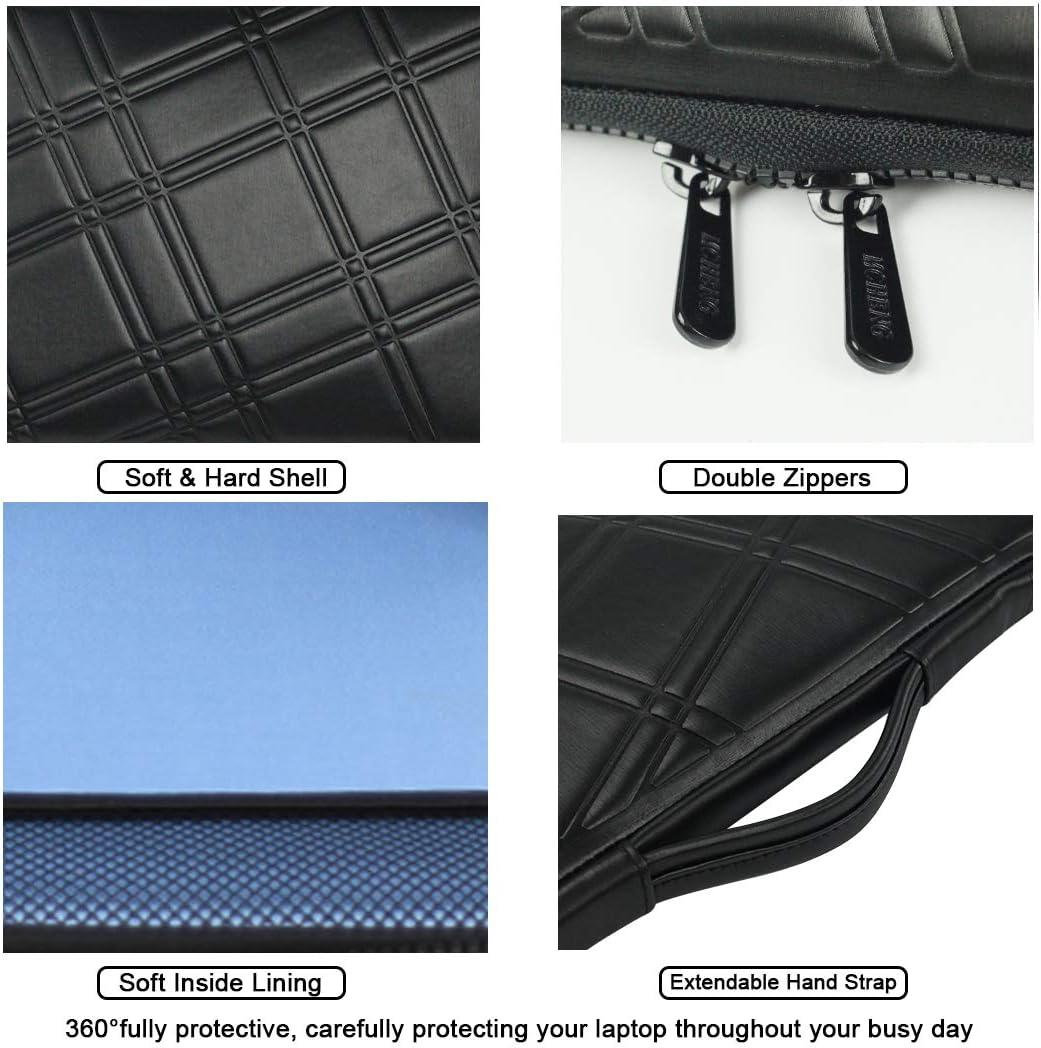 MCHENG 14 Pouces Housse de Protection /à 360/° pour Ordinateur Portable Sacoche Laptop Sleeve Case PC Sac Pochette pour Microsoft Lenovo Acer HP ASUS Samsung Dell Toshiba MSI Noir