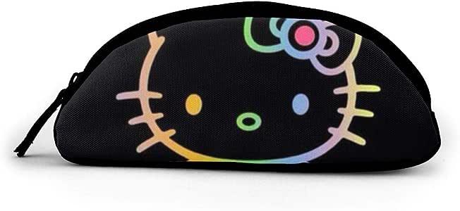 Colorido Hello Kitty bolsillo grande con cremallera semicírculo grande de tela estuche para lápices – maquillaje escolar: Amazon.es: Oficina y papelería